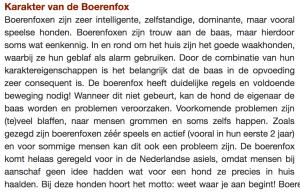 Karakter boerenfox